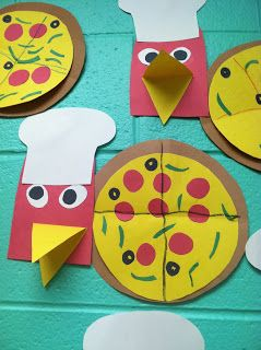Little Red Hen makes pizza. Great for a fraction activity!