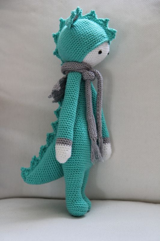 DIRK the dragon made by filante / crochet pattern by lalylala