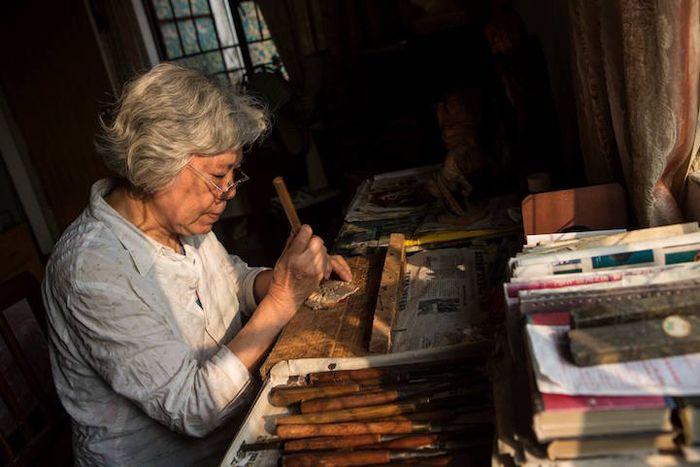 Денг Даоханг за работой.