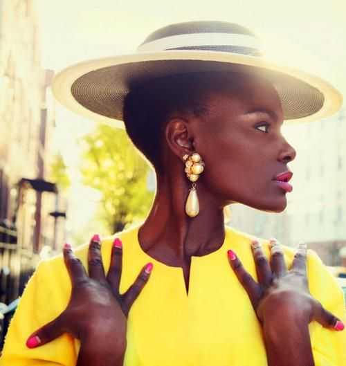 Natural hair - the bald and beautiful: Hair Beautiful, Shingai Shoniwa, Hats Etc, Classy Yellow, Black Fashion, Bald And Beautiful, Fashion Inspiration, Black Beautiful, Beautiful Things