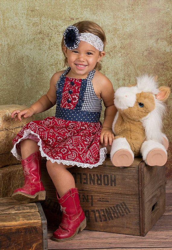 Cowgirl Dress // Western Birthday //  Farm Party //  Barnyard Birthday Dress on Etsy, $45.00