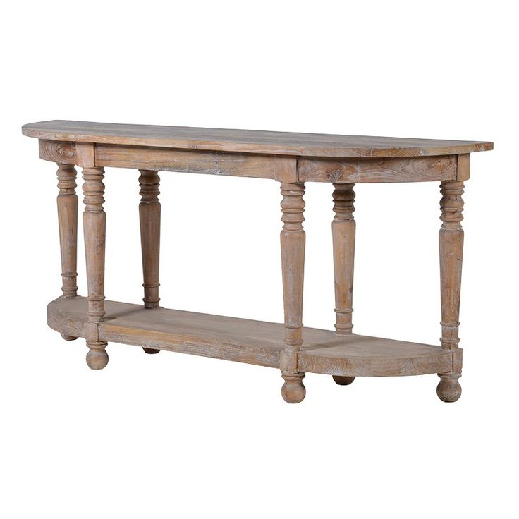 My favourite console table at the moment - weather oak finish - large statement piece.