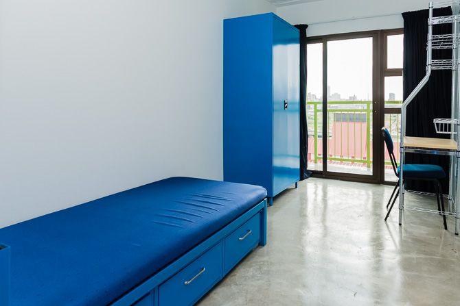 Single room inside silo