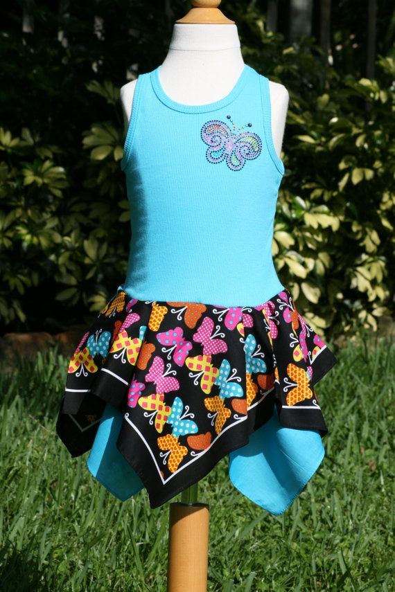 Butterfly tank top bandana dress Available in sizes by foxybaby, $20.00
