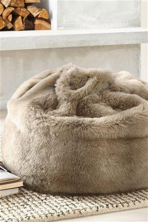 Arctic Faux Fur Bean Bag