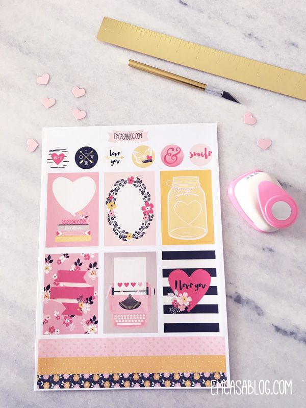 Em casa blog free printable planner stickers planners for Planner casa gratis