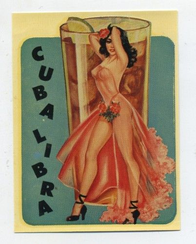 RARE Vtg Glamour Girl Series Water Slide Decal Cuba Libra Pin Up Burlesque | eBay