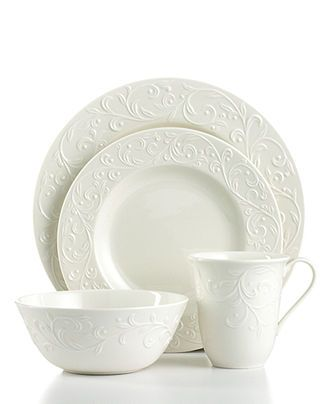 Dinnerware Opal Innocence Carved 4 Piece Place Setting. Casual DinnerwareWhite DinnerwareDinnerware SetsFine ChinaTable ...  sc 1 st  Pinterest & 309 best Dinnerware u0026 Stuff images on Pinterest | Blue and white ...