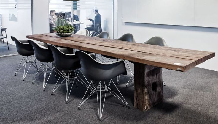 THORS Gaia rustic boardroom table reclaimed wood   #reclaimedwood #boardroominteriors #interiordesign #sustainablefurniture