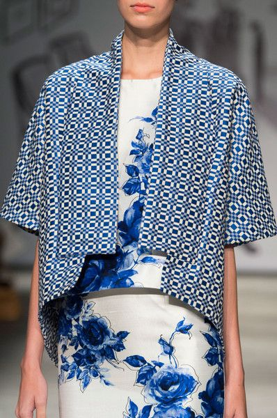 Lela Rose Spring 2015 -- I like the blue rose print