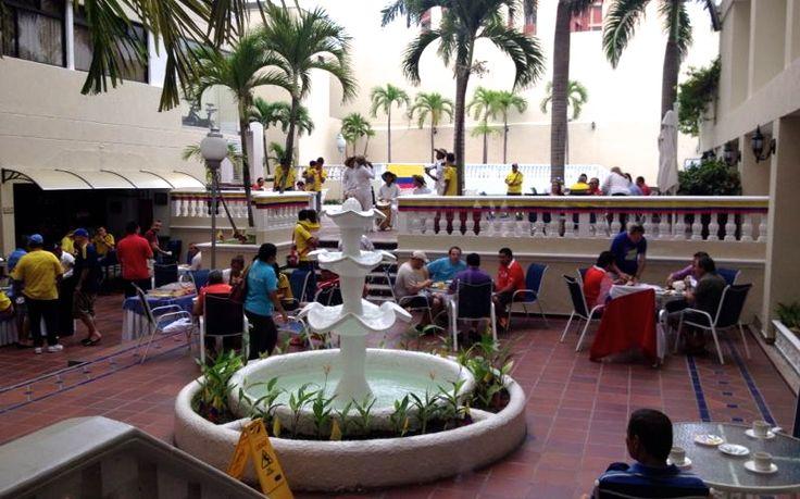 Foto: Susana Gómez Manrique. En Barranquilla la ocupación hotelera esta a más del noventa por ciento por cuenta del partido de hoy entre Colombia y Chile.