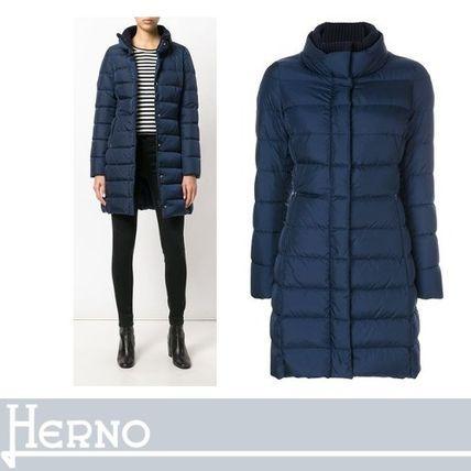 HERNO ダウンジャケット・コート HERNO モダンさと共に女性らしさ感じられる パッド入りコート