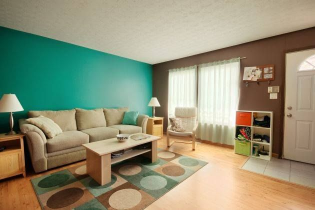 una idea super facil para tu sala color azul con cafe
