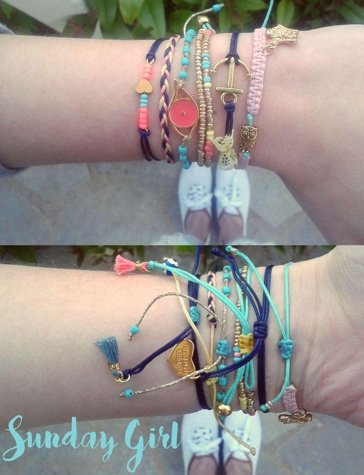 spring colored handmade bracelets