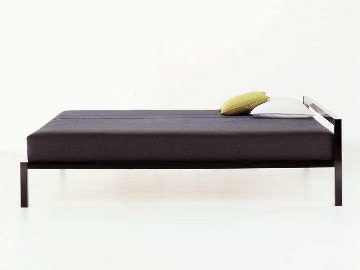 Aluminium single bed ALUMINIUM BED lacquered - MDF Italia