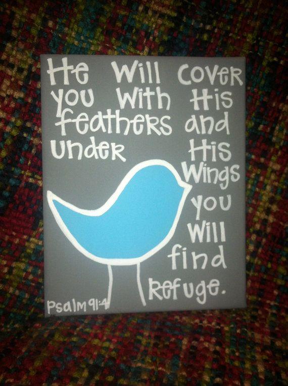 Bird Bible Verse Canvas