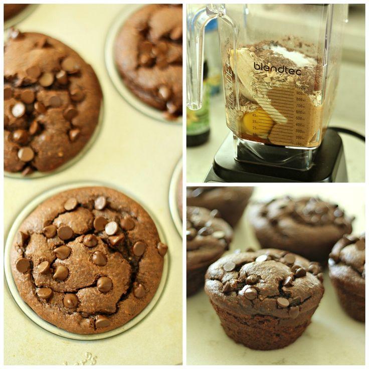 Chocolate Peanut Butter Banana Muffins from Tone-and-Tighten