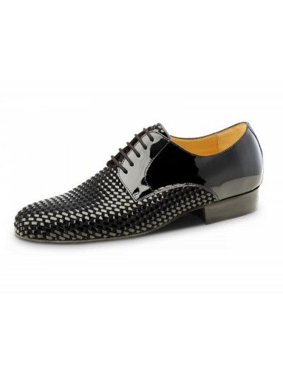Chaussures de danse noire à motif, Rio Negro Nueva Epoca en cuir