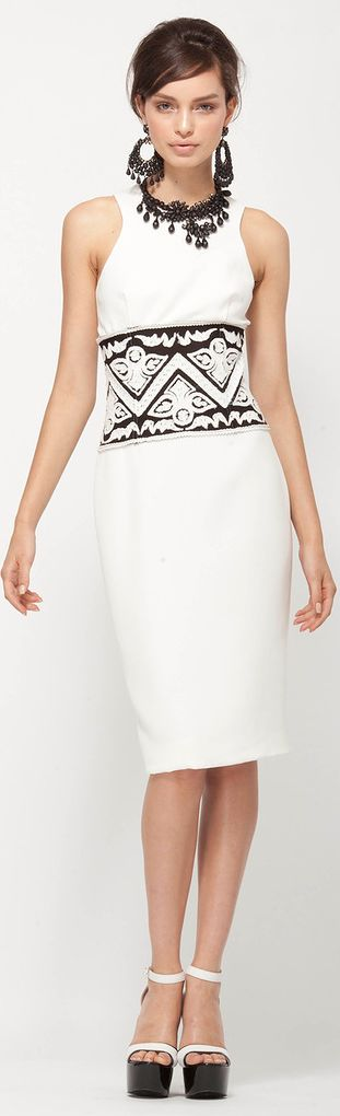 Super elegance black n white dress