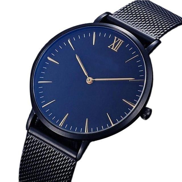 Watches Women Fashion Watch Unisex Stainless Steel Mesh Quartz Lady Clock Woman Men Relogios Horloge Orologi Donna #727