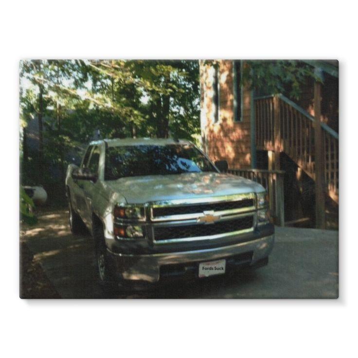 Chevy Silverado Stretched Canvas