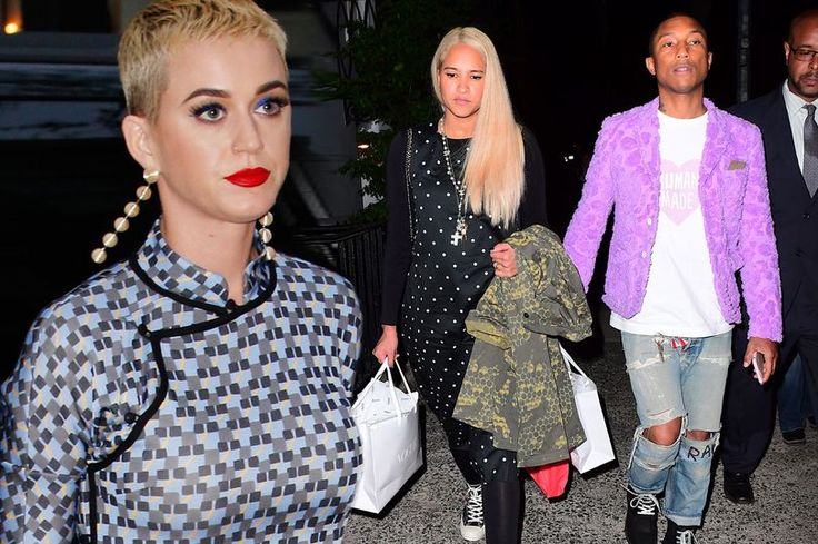 Katy Perry wows with short blonde crop as she joins Pharrell Williams, Gisele and other stars for glitzy pre-Met Gala meal