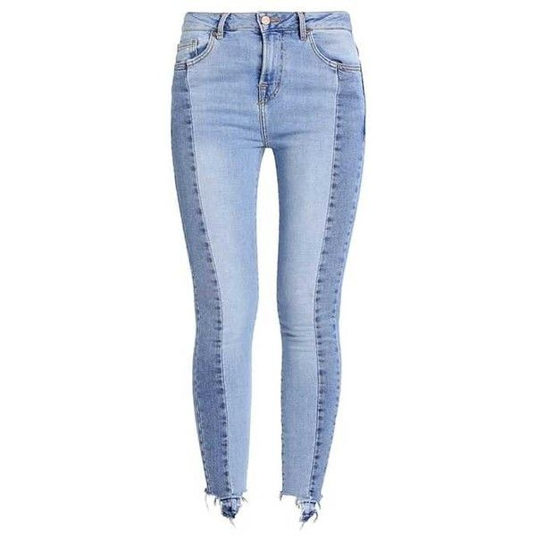 JENNA Jeans Skinny Fit light blue via Polyvore featuring jeans, blue jeans, light blue jeans, blue skinny jeans, light blue skinny jeans y skinny leg jeans