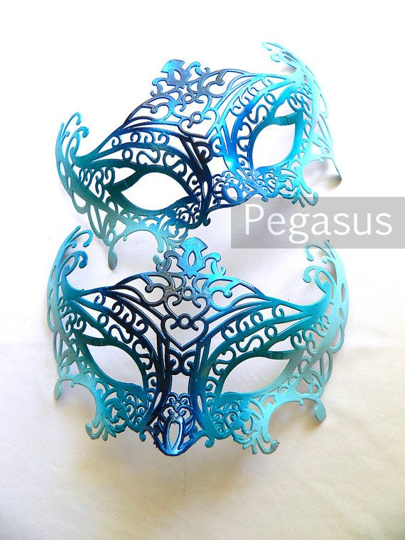 Masquerade Mask base 1 Mask Mermaid BLUE DIY Ballroom by pegasus22, $6.50