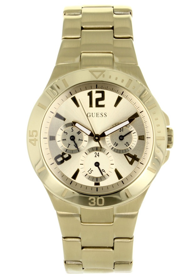 Price:$124.11 #watches Guess W13545L1, Stainless steel case, Stainless steel bracelet, Gold dial, Quartz movement, Scratch-resistant mineral, Water resistant up to 10ATM - 100 meters - 330 feet
