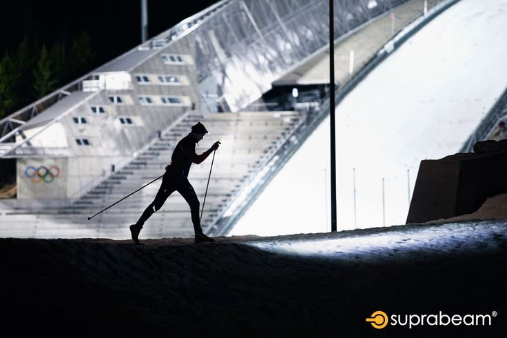 Skiing with the Suprabeam V3pro rechargeable headlamp.