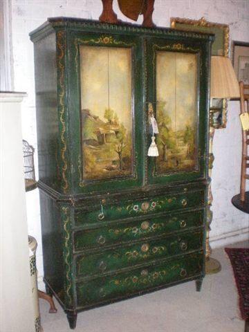 "Painted Dutch Cupboard (original paint), English, c.1700""s"