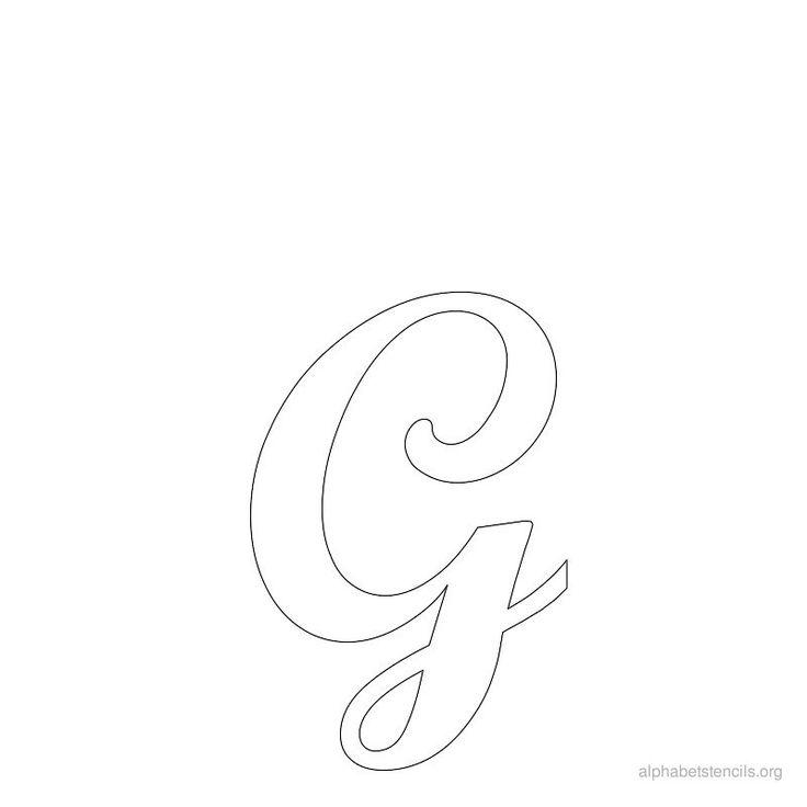 Print Free Alphabet Stencils Cursive G