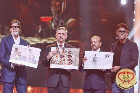 Amitabh Bachchan unveiled the third edition of Mumbai Police calendar, shot by ace photographer Pravin Talan, at the star-studded event Umang.