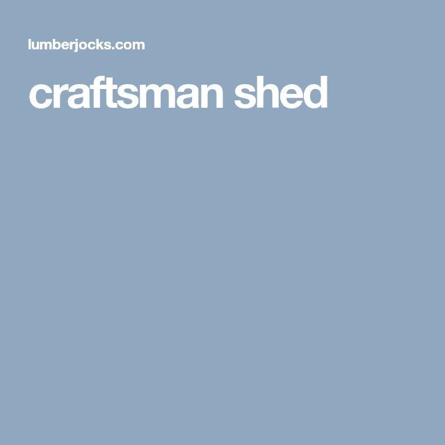 craftsman shed