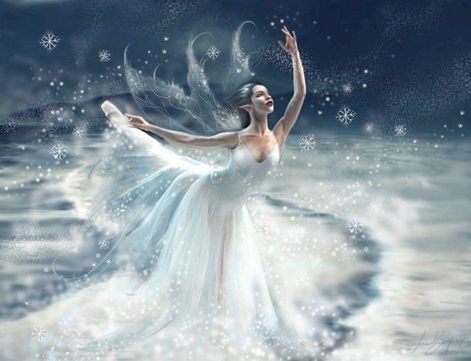 Mystical fairies creatures pinterest snow