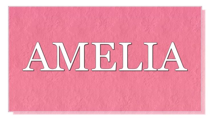 Meaning of the name Amelia. What is the meaning of the name Amelia? What are lucky colors for Amelia? What are lucky days for Amelia? What are lucky professions for Amelia? How special is Amelia? Personality  traits of Amelia . You will find answers to these questions in this movie. We collected the fun facts about the name Amelia.