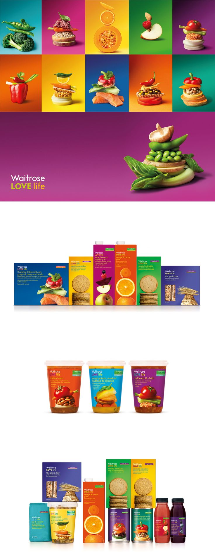 Packaging designed by Pearlfisher for the Waitrose LOVE life