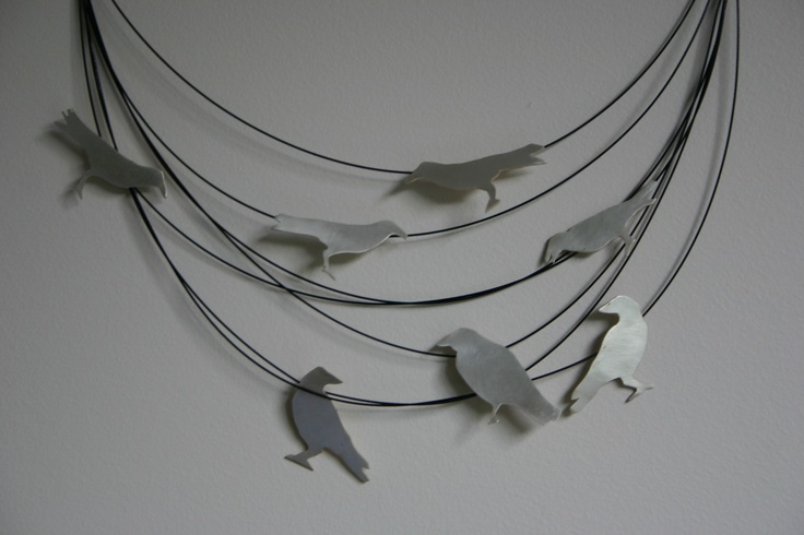 Murder of Crows sterling silver - a flock of crows are called a murder - how delicious! SOLD