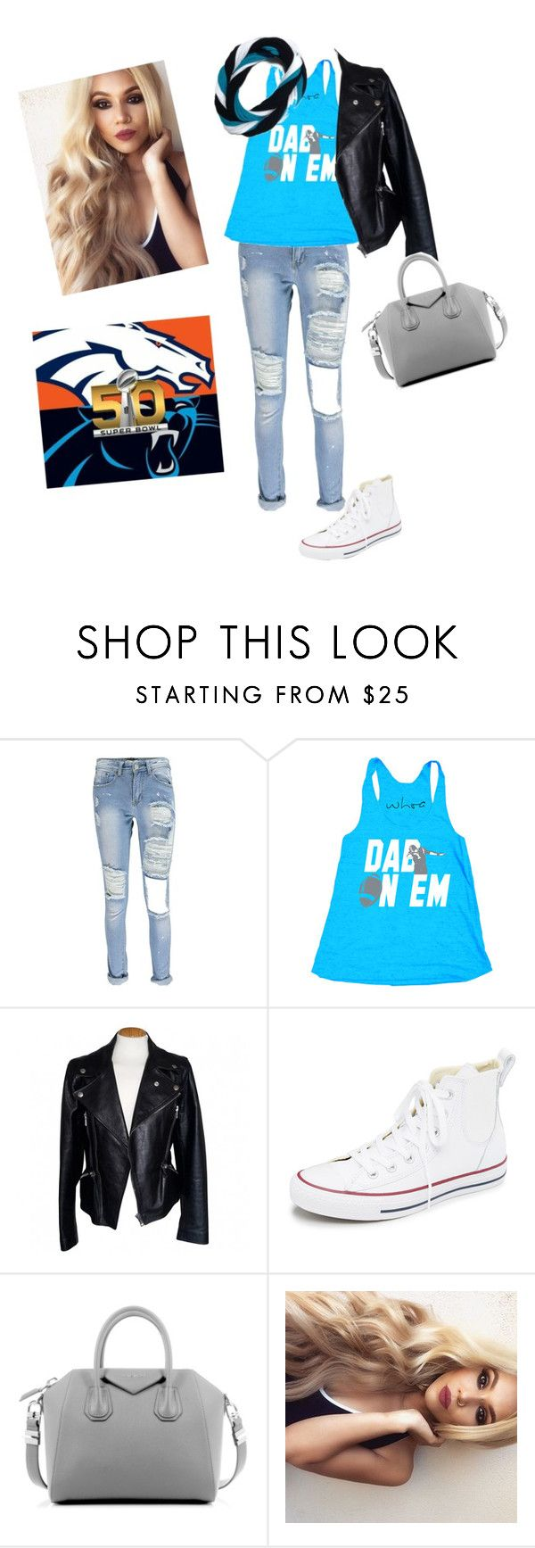 """""""super bowl party!"""" by mage1213 ❤ liked on Polyvore featuring Alexander McQueen, Converse, Givenchy, women's clothing, women, female, woman, misses and juniors"""