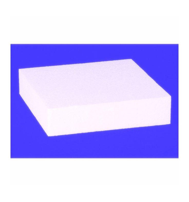 Basi per torte Cake design o Dummy torta quadrata in polistirolo densita '20 kg / mc 15x15 H7