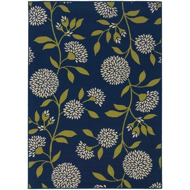 Caspian 8327L Blue Indoor/Outdoor Rug by Oriental Weavers