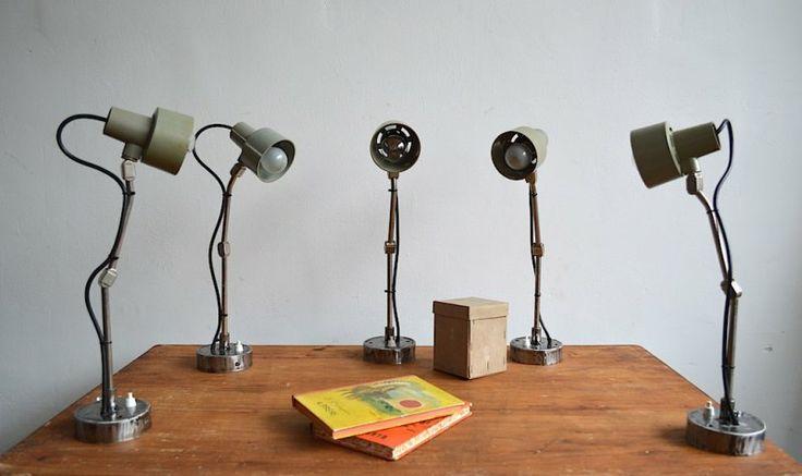 Khaki green sewing machine lamps (7 pieces) |artKRAFT - Furniture&Design