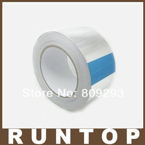 Алюминиевая Фольга Лента 20 мм * 40 м Алюминиевый Скотч 25 шт./лот Высокая Температура Ленты Серебристая