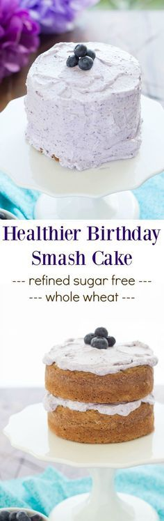 A healthier smash cake recipe, made without butter or refined sugars. This easy whole wheat banana cake is the perfect first birthday cake! With a VIDEO!
