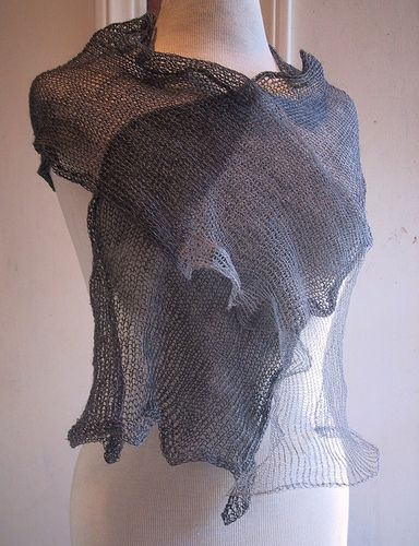 Kusha Kusha Scarf by Setsuko Torii -- felted merino with thin stainless steel silk yarn