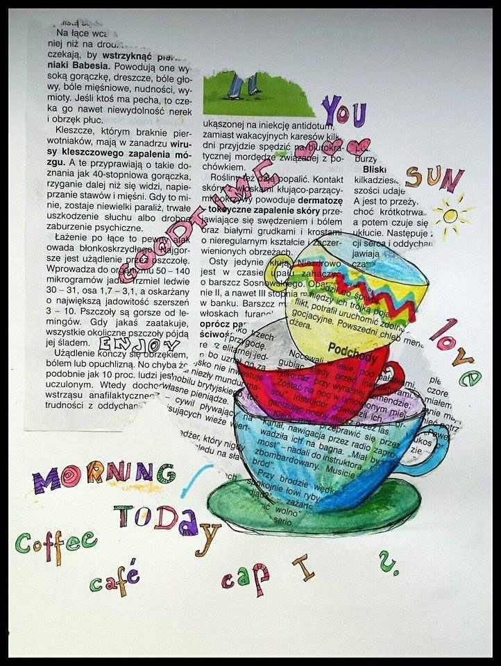 #art #colors #annsz #face #goodtime #pisak #painting #malarstwo #rysunek #draw #szkic #morning #love #cup