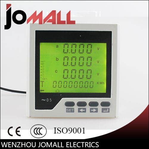 96*96mm three phase 4 wire or 3 wire liquid crystal display LCD multifunctional monitoring meter best quality hot sale 2016 year