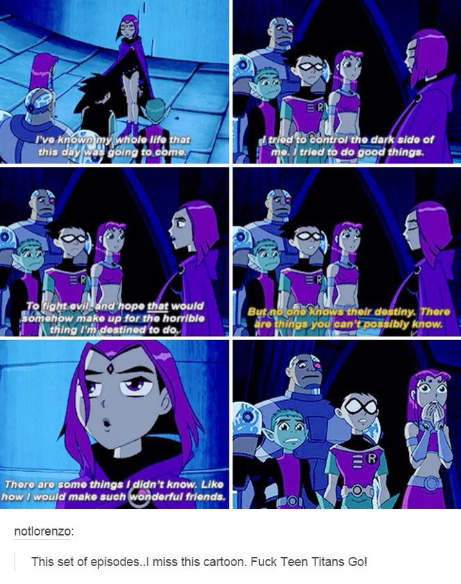 Exactly! I loved this episode! Now I want to watch Teen Titans again!