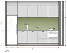 Best One Wall Kitchen Designs - http://www.kitchenstir.com/09072733-best-one-wall-kitchen-designs/