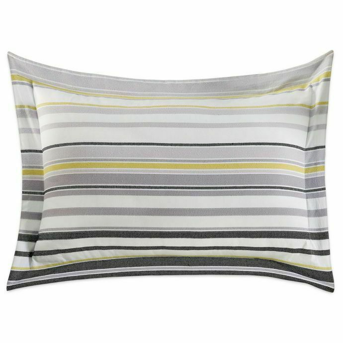 Kas Room Arlo European Pillow Sham in Dark Grey